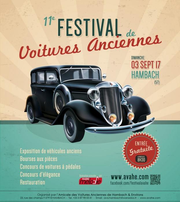 03 sept. 2017 - 11ème festival des voitures anciennes de hambach - avahe